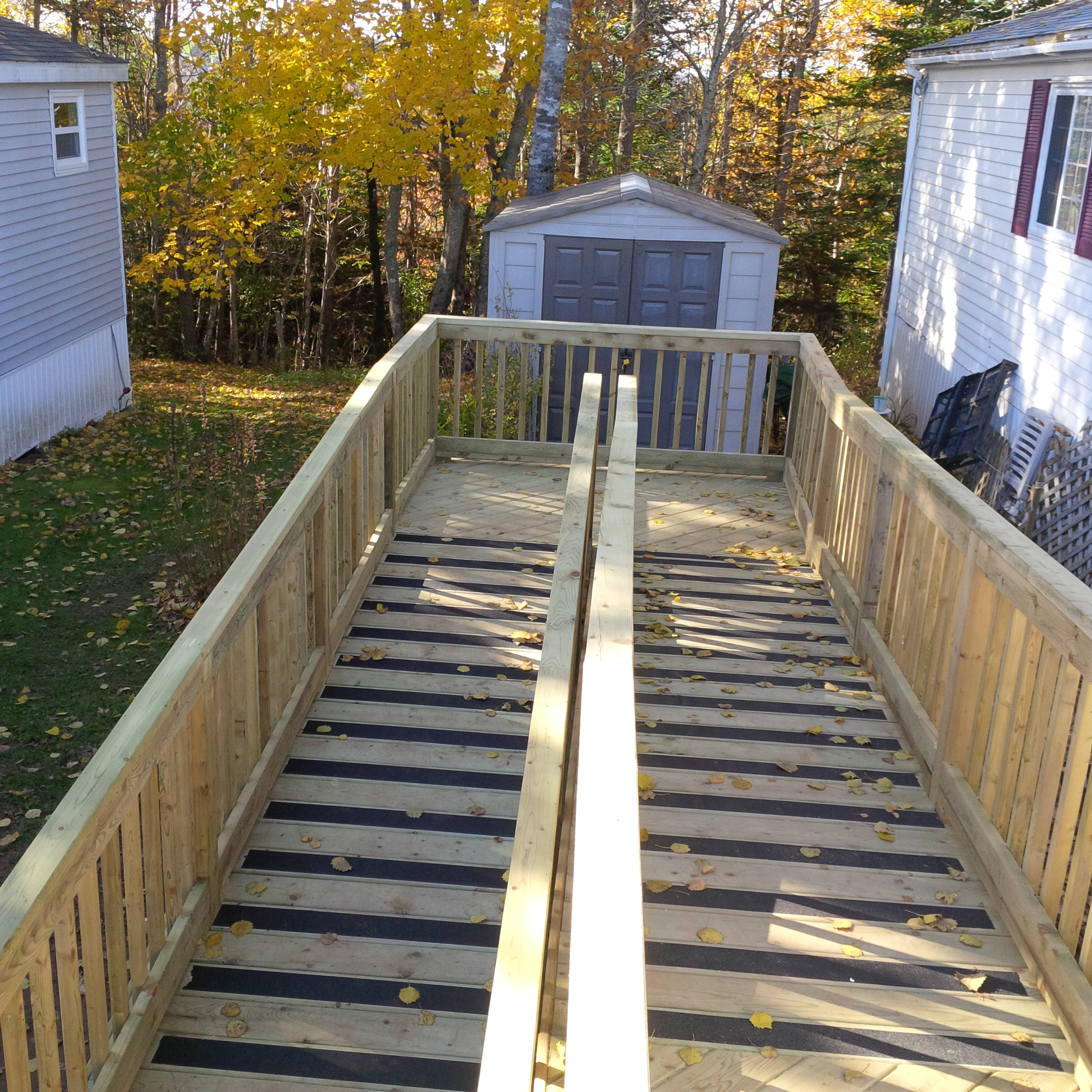Wall Designs Pressure Treated Wood Accessibility Ramp