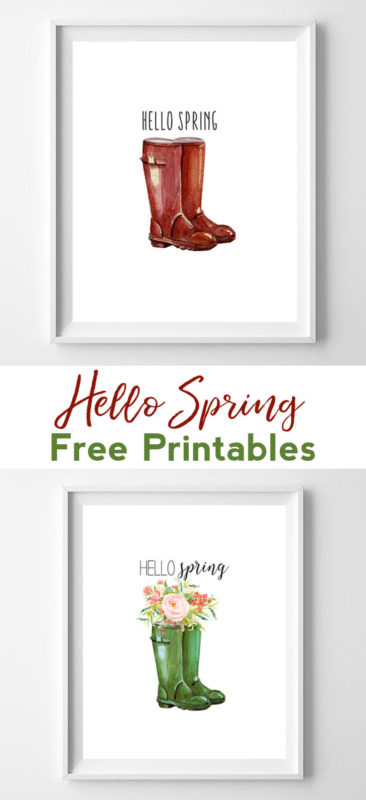 hello spring free printables - all crafty things
