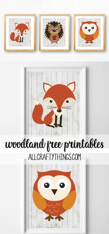 woodland animals free printables - all crafty things