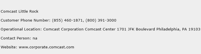 Comcast Little Rock Number Comcast Little Rock Customer Service