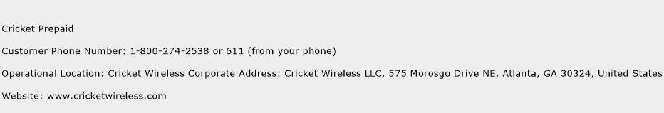 Cricket Prepaid Customer Service Phone Number Contact Number - Cricket Number Customer Service