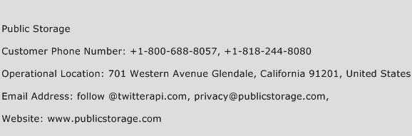 public storage customer service