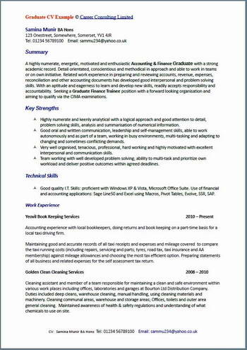 CV Writing Examples - All CV Writing