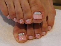 Toe Nail Art Using Rhinestones - AllDayChic