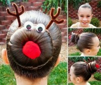 Pretty Hairstyle for Christmas: Rudolph Bun - DIY - AllDayChic
