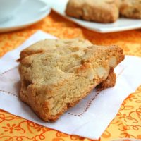 White Chocolate Macadamia Nut Scones - Low Carb and Gluten-Free