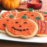 Halloween Cut-Out Sugar Cookies - Low Carb and Gluten-Free