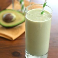 Avocado Green Tea Power Shake - Low Carb and Gluten-Free