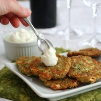 Zucchini and Feta Fritters - Low Carb and Gluten-Free