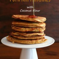 Pumpkin Coconut Flour Pancakes - Low Carb and Gluten-Free
