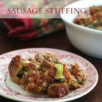 Spicy Sausage and Cheddar Stuffing - Low Carb and Gluten-Free