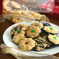 Chocolate Orange Spritz Cookies - Low Carb and Gluten-Free