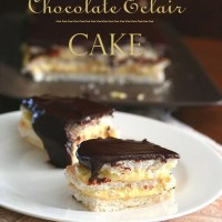 Chocolate Eclair Cake - Low Carb and Gluten-Free