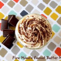 5 Minute Peanut Butter Mousse - Low Carb and Gluten-Free