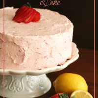 Strawberry Lemonade Cake - Low Carb and Gluten-Free