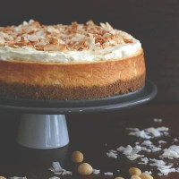 Coconut Cheesecake with Macadamia Nut Crust