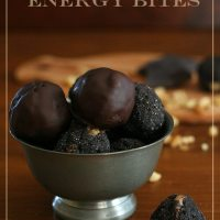 No Bake Chocolate Brownie Energy Bites