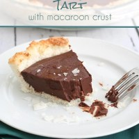 Chocolate Ganache Tart with Macaroon Crust