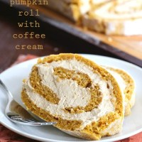 Pumpkin Roll with Coffee Cream