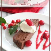 Chocolate Terrine with Cranberry Coulis