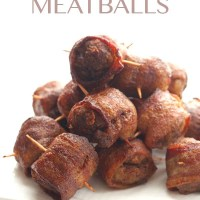 Sweet & Spicy Bacon Wrapped Meatballs
