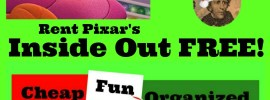 Rent Inside Out FREE! 7 weeks of Cheap, Fun, and Organized Christmas fun at All Day Mom! Day 1: Rent Pixar's Inside Out Movie FREE! Free Christmas Planner!