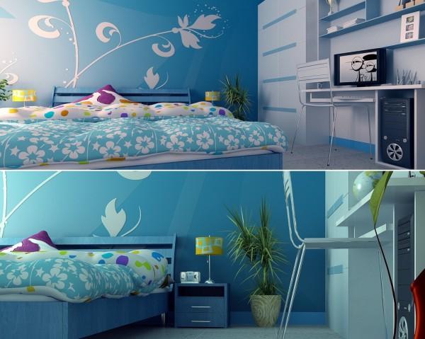 ▷ 12 Ideen für Kinderzimmer mit coolen eingebaute Einheiten - kinderzimmer blau mdchen