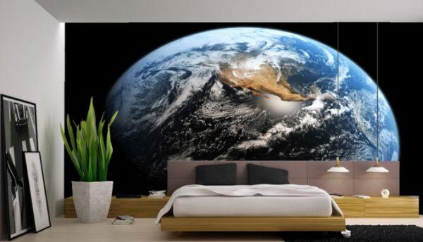 Earth And Moon 3d Wallpaper Der Mond Als Dekoration Die Menschen Haben Den Mond Betreten