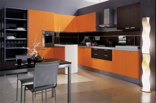 Orange Kuche Energieschub \\u2013 Edgetagsinfo   Designer Kuche Aus Edelstahl  Warmendes Goldstuck