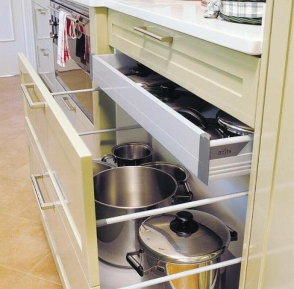 ▷ 57 praktische Ideen für die Organization der Küchenschubladen - moderne kuche praktische kuchengerate