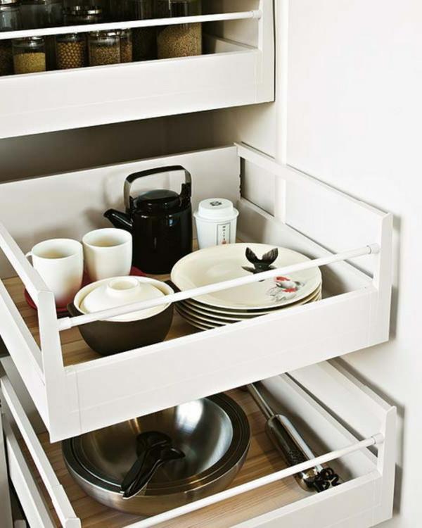 57 Praktische Ideen Für Die Organization Der Küchenschubladen   Moderne  Kuche Praktische Kuchengerate