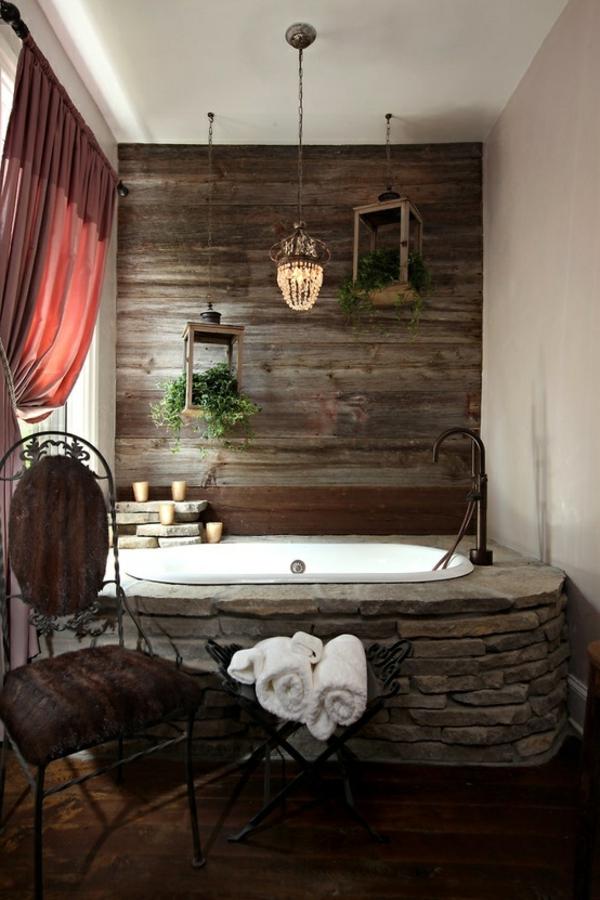 Holz Sessel | 23 Fantastische Rustikale Badezimmer Design Ideen