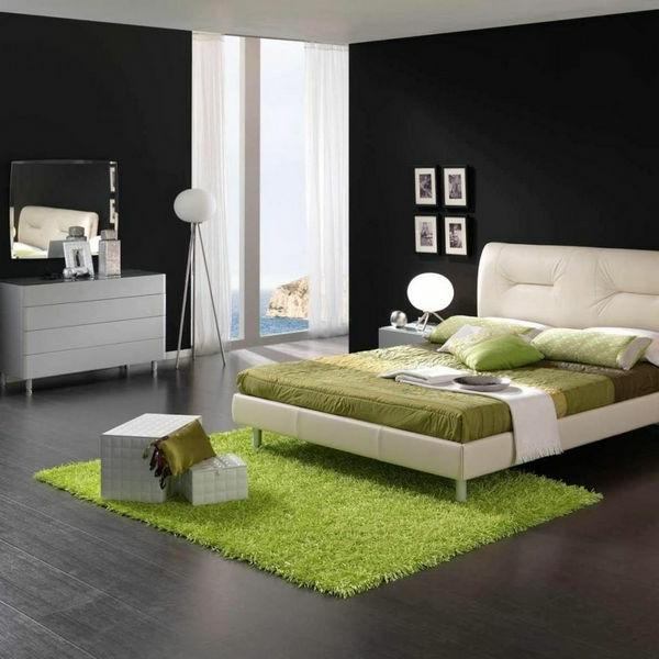 ▷ 10 großartige schwarz-weiße Schlafzimmer Ideen - schlafzimmer ideen in grun