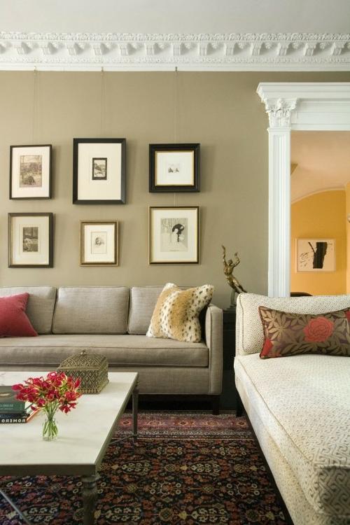 ▷ Wanddekoration Ideen mit Bildern und Familienfotos - wandgestaltung wohnzimmer beispiele