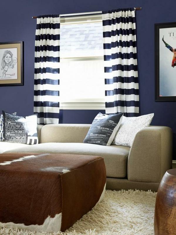 ▷ Wohnzimmer Farbideen - 20 gelungene und einzigartige - wohnzimmer beige blau