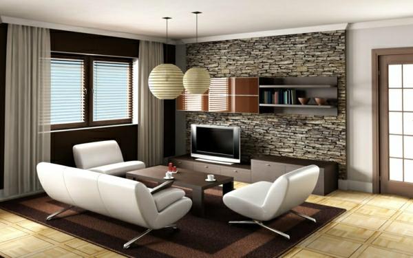 ▷ Natursteinwand im Wohnzimmer - eine attraktive Wandgestaltungsidee - wohnzimmer vorschlage