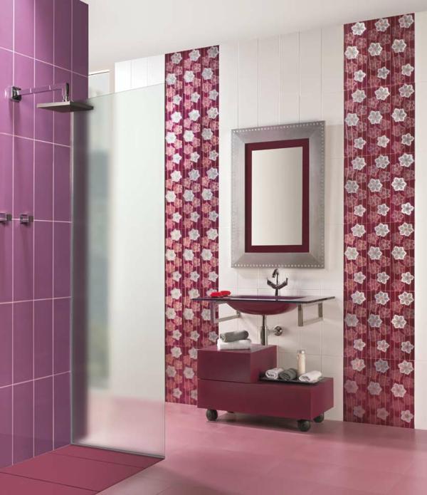 ▷ Fliesengestaltung im Bad - ein paar reizvolle Vorschläge - badezimmer pink