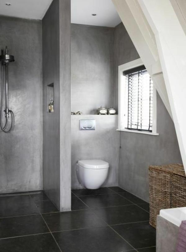 ▷ Wandfarbe für Badezimmer - moderne Vorschläge fürs Badezimmer - badezimmer hell grauer boden