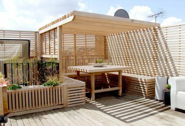terrassenüberdachung-aus-holz-schönes-ambientejpg (600×409 - outdoor küche holz
