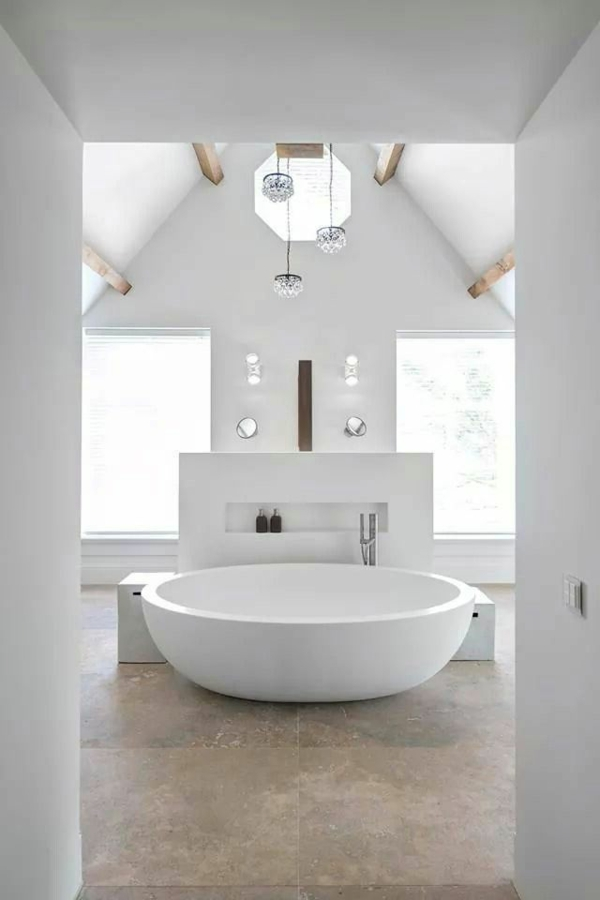 Moderne Regale 20 Runde Badewanne Designs, Die Das Bad In Ein Paredies