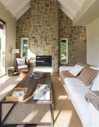 Steinwand Wohnzimmer: Eine dekorative Wand voller ...