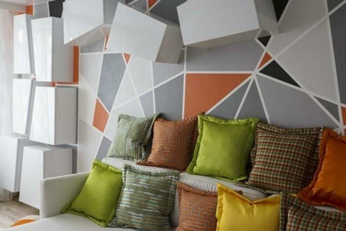 Wallpaper Fall Images Wandgestaltung Mit Geometrischen Formen Und Bunten Farben