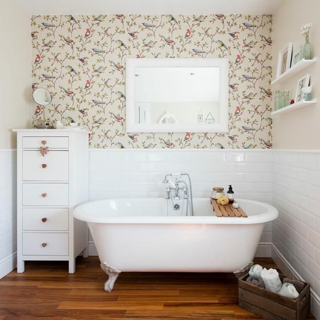 Tapeten Design Fuer Badezimmer