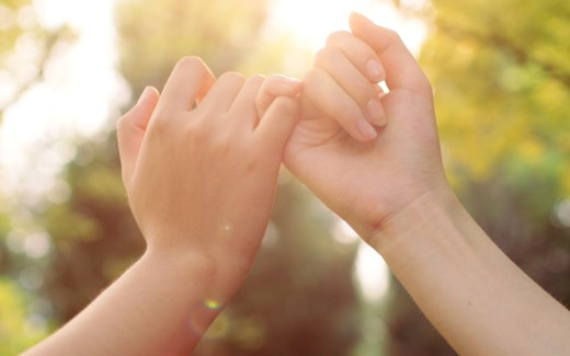 hand in hand make a Promise