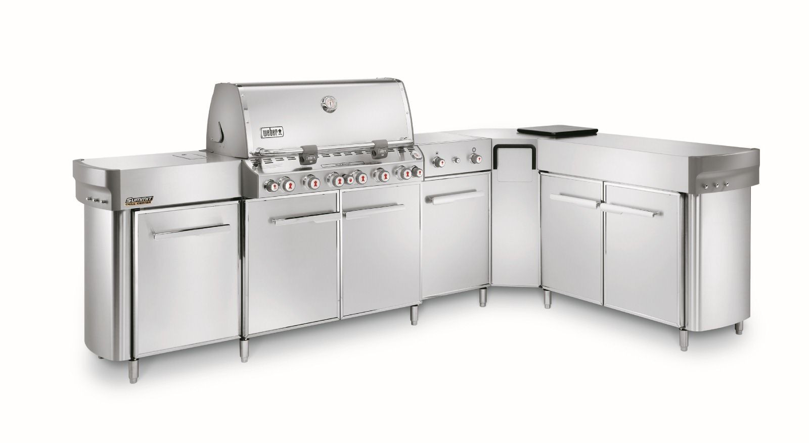 Grill Küche Weber Summit S 670 Grill Center Met Social Area Inbouw