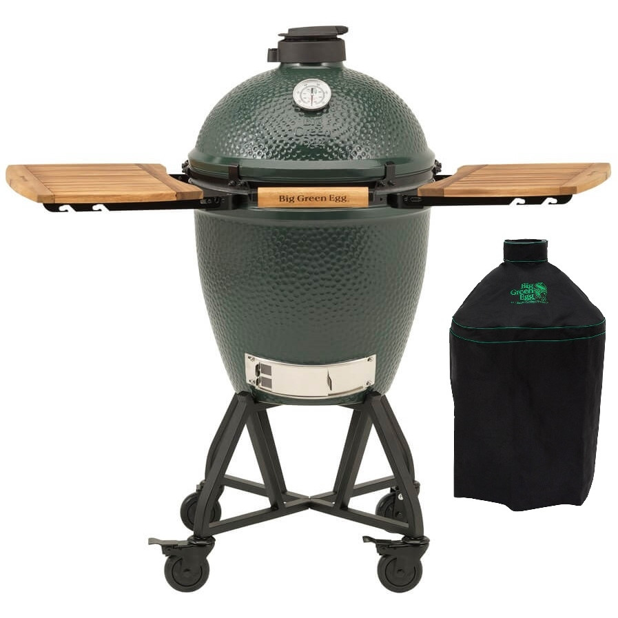 Boretti Bbq Hoes Big Green Egg Large + Integgrated Nest+handler + Zijtafels
