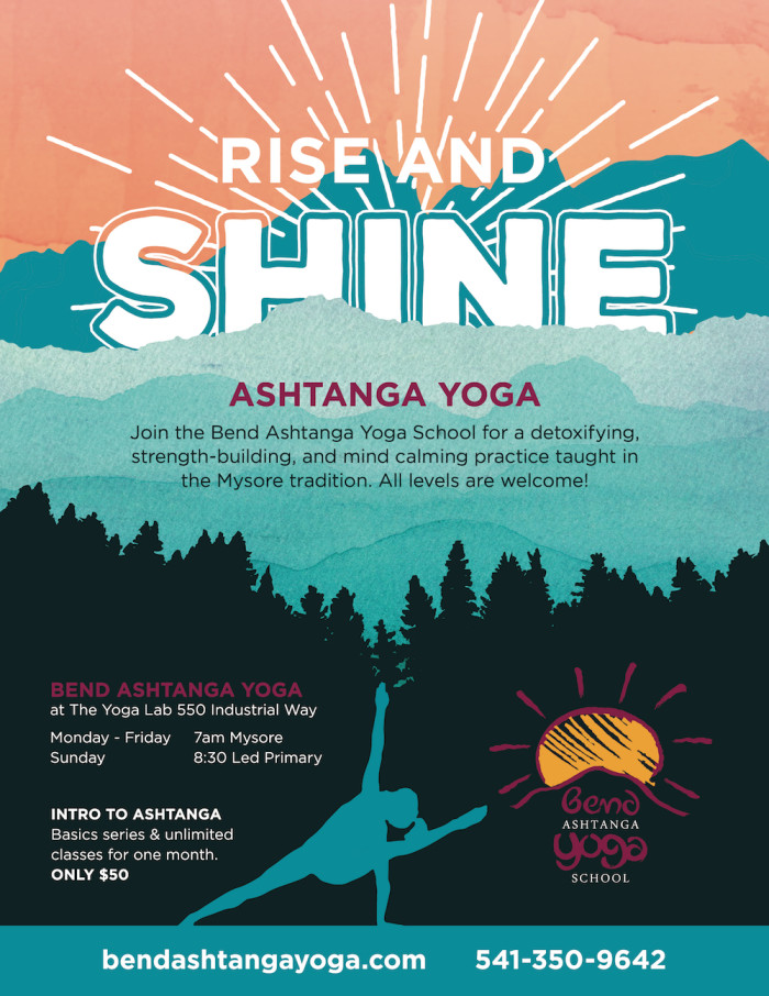 Bend Ashtanga Yoga Flyers - Alley Dog Designs - yoga flyer