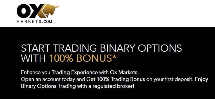 Binary options broker bonus