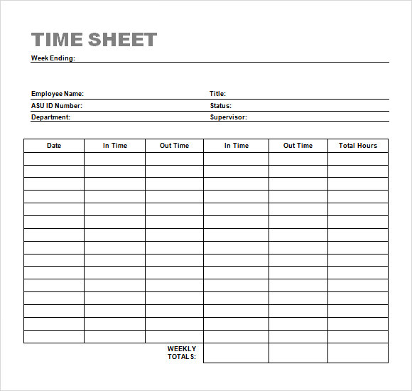employee timesheet template - Alannoscrapleftbehind - weekly timesheet template