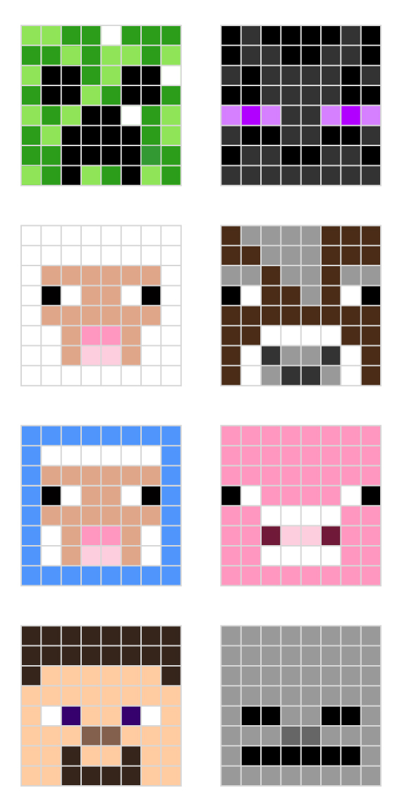 Minecraft pixel art templates \u2014 All for the Boys - minecraft pixel art template